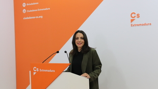 María José Calderón asegura que Ciudadanos ''es la única alternativa'' para que Extremadura ''pueda converger'' con el resto de comunidades