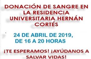 Donación de sangre en la Residencia Universitaria Hernán Cortés