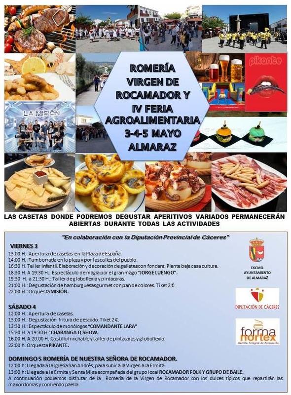 El Ayuntamiento de Almaraz organiza la IV Feria Agroalimentaria de la localidad, que se celebrará entre el 3 y el 5 de mayo