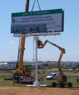 La Junta Electoral insta a retirar la valla publicitaria del Hospital Don Benito-Villanueva