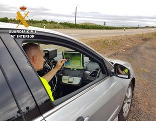 La Guardia Civil investigó a un vecino de Rena por circular con un turismo a 211 km/h