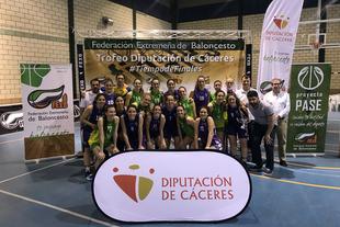 El Reale Baloncesto Navalmoral y el C.B. Al-Qázeres, vencedores del Trofeo Baloncesto Diputación de Cáceres