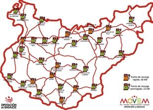 Badajoz será la primera provincia peninsular en contar con una Red Provincial Pública de Puntos de Recarga