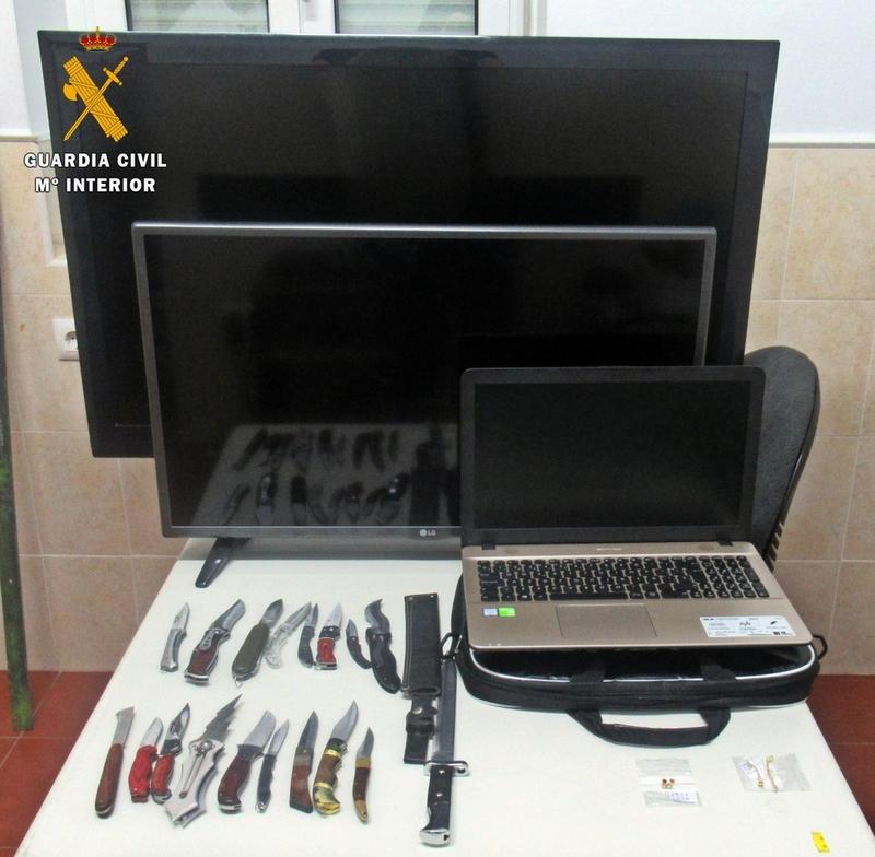 La Guardia Civil detiene a tres personas por su implicación en cuatro robos perpetrados en Villafranca de los Barros