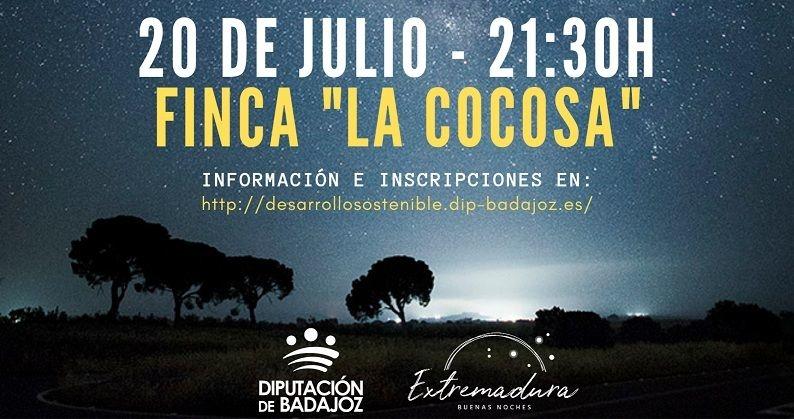 La Diputación de Badajoz celebra el 50 aniversario de la llegada del hombre a la luna en La Cocosa