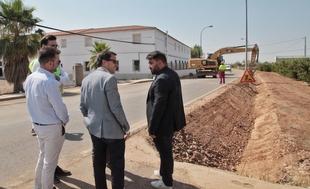 La Diputación refuerza y acondiciona la carretera y travesías entre Valdivia e Entrerríos