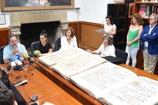 La consejera de Cultura subraya que la recuperación de la Biblioteca de Yuste contribuye a enriquecer el patrimonio bibliográfico de Extremadura