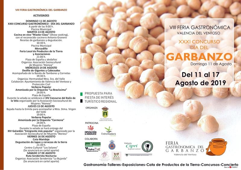 El tradicional garbanzo de Valencia del Ventoso vuelve a ser protagonista en el XXXI Concurso Gastronómico