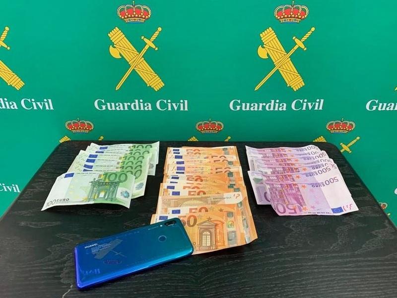 La Guardia Civil detiene al autor del robo de 8.350 euros