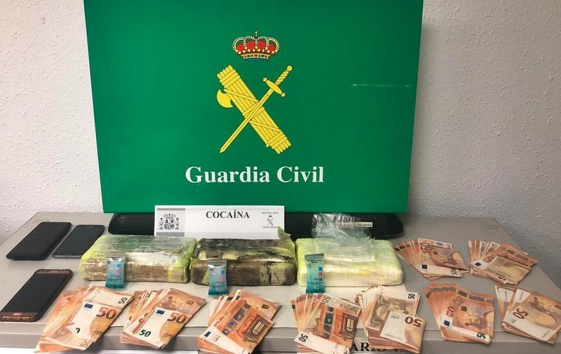 La Guardia Civil interviene tres kilos de cocaína a un vecino de Mijas