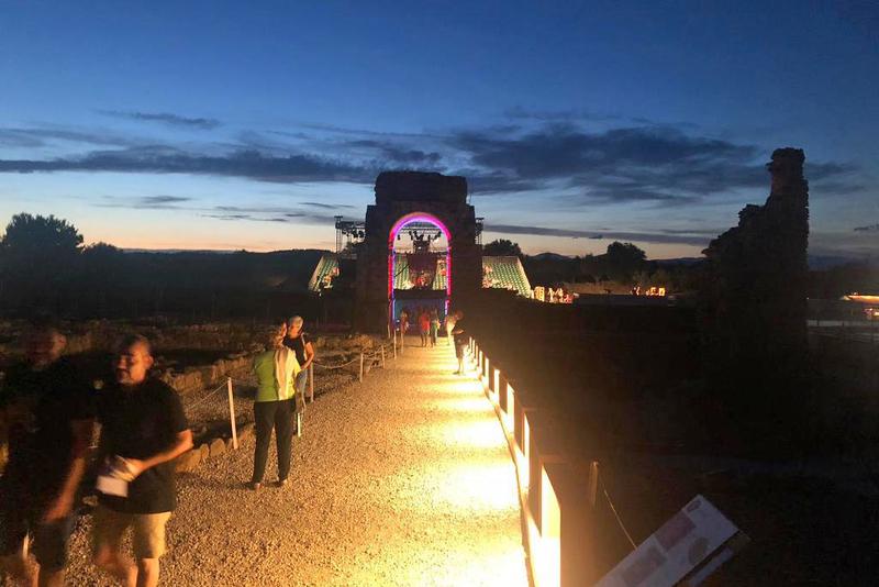 Recepcionada la obra de iluminación del yacimiento arqueológico de Cáparra