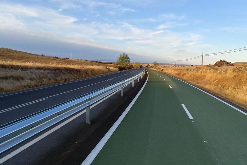 La Diputación interviene en el carril bici de Casar de Cáceres-Arroyo de la Luz para mejorar su seguridad