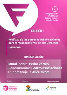 Fundación Triángulo llevará a cabo varias actividades en Hernán Cortés para visibilizar la labor de activistas LGBTI