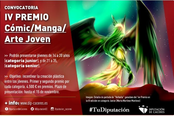 La Diputación convoca el IV Premio Cómic/Manga/Arte Joven para incentivar la creación plástica
