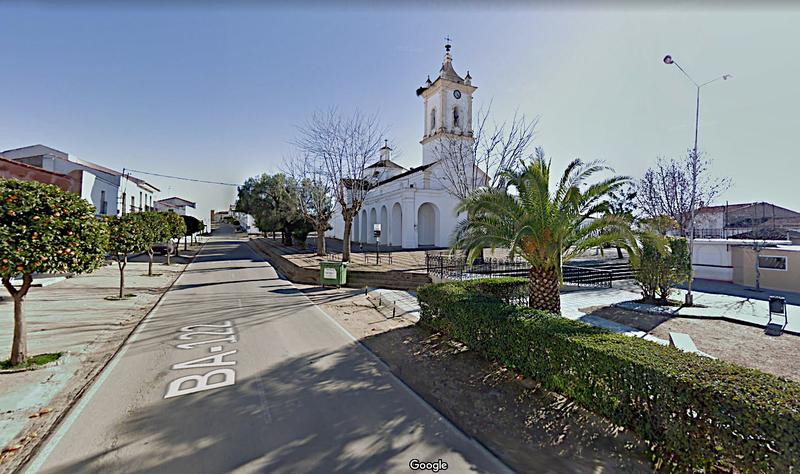 Corte al tráfico de la Carretera Provincial BA-122 en el tramo que discurre por el casco urbano de Ribera del Fresno
