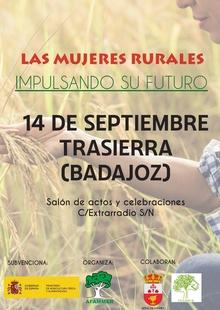 Mujeres Rurales celebra este sábado unas jornadas en Trasierra para más de 100 mujeres de la región, dirigidas a impulsar el futuro del colectivo