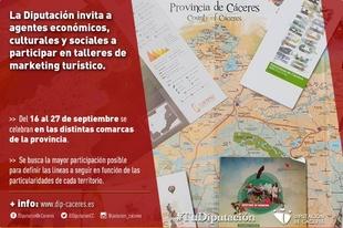 La Diputación invita a agentes económicos, culturales y sociales a participar en un taller de marketing turístico