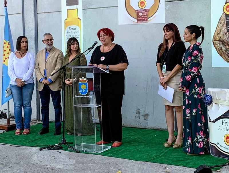 Begoña García valora los productos agroalimentarios por su contribución a la Extremadura rural