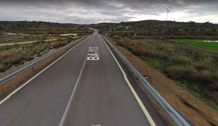Corte al tráfico de la carretera que une Quintana de la Serena a EX-210 por Valle de la Serena