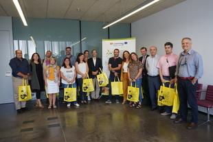 Los socios del proyecto ECO2CIR visitan el punto limpio de Promedio en Zafra