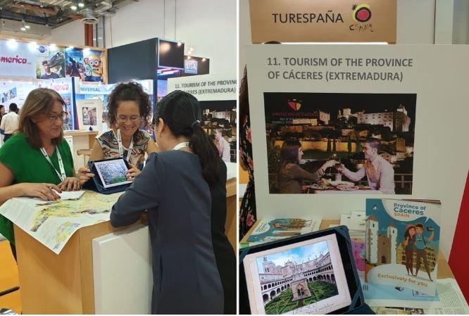 La naturaleza, el patrimonio y la cultura de la provincia de Cáceres despiertan el interés en la feria ITB Asia, en Singapur