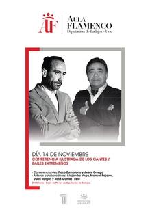 El Aula de Flamenco de la Diputación de Badajoz y la UEX ofrecerá una conferencia ilustrada sobre los cantes y bailes extremeños