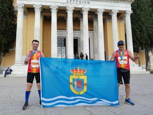 Dos guadianeros han participado en el Maratón de Atenas 2019