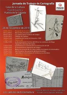 La Diputación organiza una jornada de trabajo de cartografía en Puebla de la Calzada