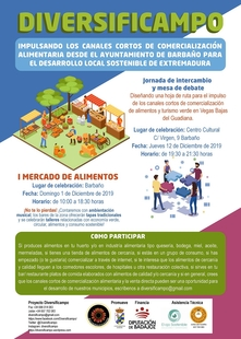 El ayuntamiento de Barbaño celebra este domingo el I Mercado de Alimentos de Proximidad