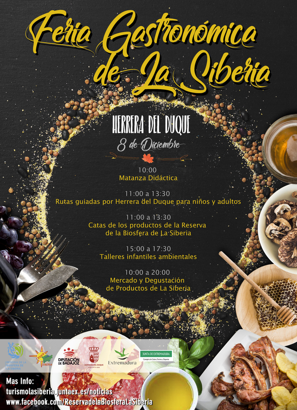 La II Feria Gastronómica de La Siberia reúne en Herrera del Duque los mejores productos y actividades relacionadas con la gastronomía