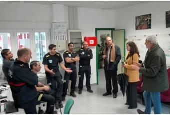 El Presidente en funciones y la diputada del SEPEI visitan los parques de Coria, Plasencia y Navalmoral de la Mata