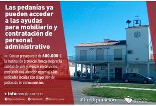 Las pedanías ya pueden acceder a las ayudas de la Diputación para mobiliario y contratación de personal administrativo