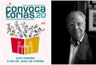 El poeta valenciano Jaime Siles, presidente del jurado del Premio 'Flor de Jara' de Poesía