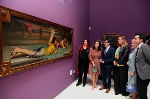 Eduardo Naranjo agradece emocionado el éxito de visitantes de su exposición en el MUBA