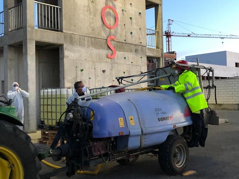 La Diputación de Badajoz pone en marcha un plan de ayuda para la desinfección en municipios de la provincia