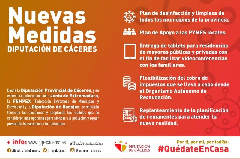 Diputación de Cáceres pone en marcha nuevas medidas de apoyo a diferentes sectores de la sociedad