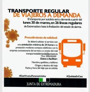 DAMAS prestará servicio a demanda del viajero a partir de este lunes debido a la situación de emergencia sanitaria
