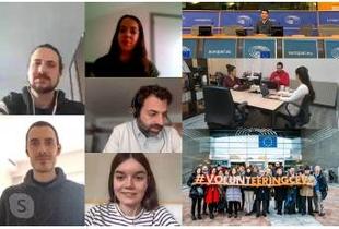Los doce jóvenes integrantes de las becas Diputación Europa continúan desarrollando su formación de forma no presencial