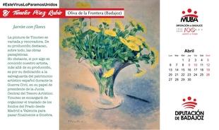 Una obra de Timoteo Pérez Rubio ilustra el mes de abril en el calendario 2020 del MUBA