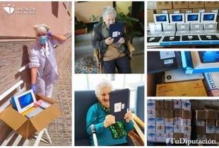 Los ayuntamientos comienzan a recibir Equipos de Protección Individual y tablets adquiridos por la Diputación