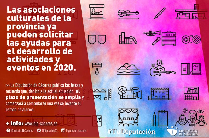 Las asociaciones culturales de la provincia ya pueden solicitar ayudas para el desarrollo de actividades y eventos en 2020