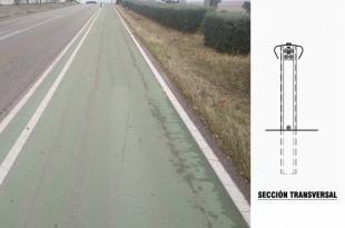 La Diputación instalará una barrera de seguridad en el carril bici de Sierra de Fuentes hacia Cáceres
