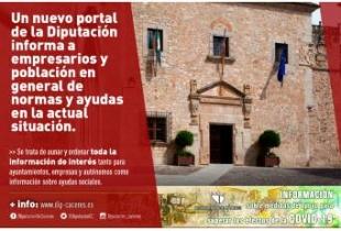 Un nuevo portal de la Diputación informa a empresarios y población en general de normas y ayudas en la actual situación