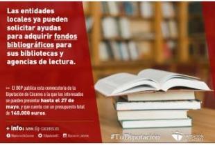 Ya se pueden solicitar ayudas para fondos bibliográficos con destino a bibliotecas y agencias de lectura municipales