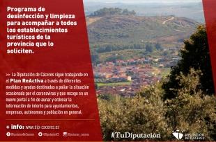 La Diputación lanza un programa de desinfección y limpieza dirigido a todos los establecimientos turísticos que lo soliciten