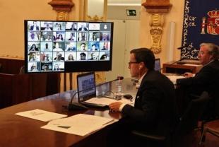 La Diputación de Badajoz celebró el primer pleno online de su historia