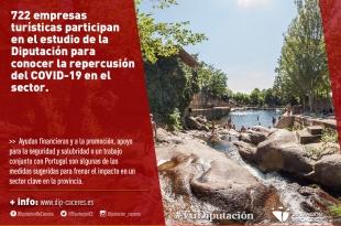 722 empresas turísticas participan en el estudio de la Diputación para conocer la repercusión del COVID-19 en el sector