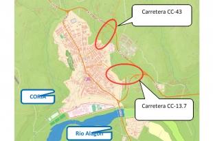 Diputación de Cáceres invierte 1 millón de euros en Coria para la mejora de accesos a la ciudad