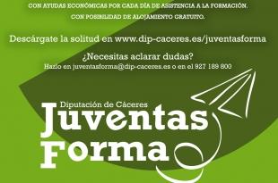 """Jóvenes de zonas rurales ya pueden inscribirse en los cursos del proyecto """"Juventas Forma"""" de la Diputación de Cáceres"""