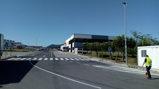 Finalizadas las obras de mejora en el polígono industrial 'El Alcornocal' en Monesterio